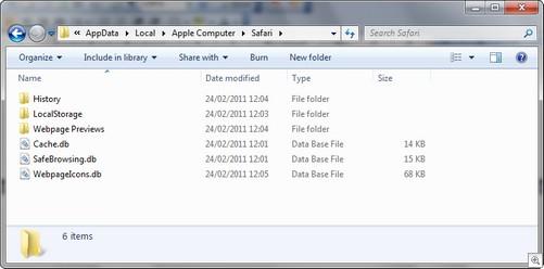 Apple Cache Folder