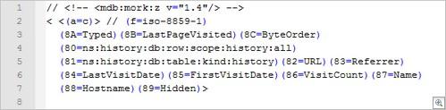 Mork Database Header