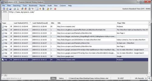 NetAnalysis Screen with Mork Database Loaded