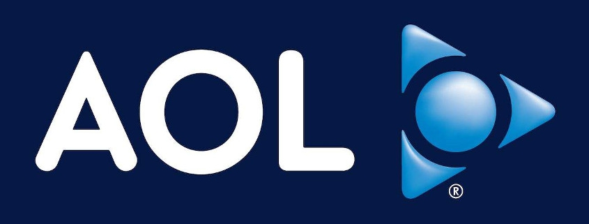 AOL logo on dark blue background