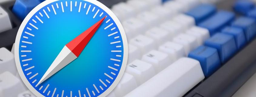 Keyboard with Apple Safari browser logo on top