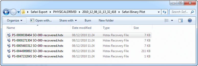 HstEx v3 Output Files