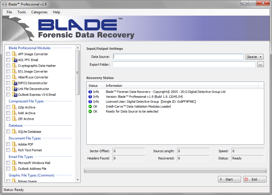 Digital Detective Software - Blade Professional - Forensic Data Recovery