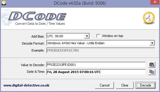 Digital Detective Free Tool DCode