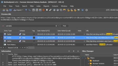 Web Browser Forensics with NetAnalysis