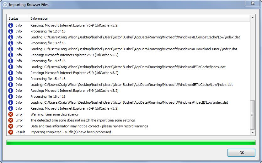 NetAnalysis v2 Progess Import Window