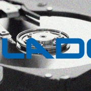 Digital Detective Blade® logo on top of a open hard disk drive