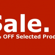 Red sale banner showing 30% off selected products