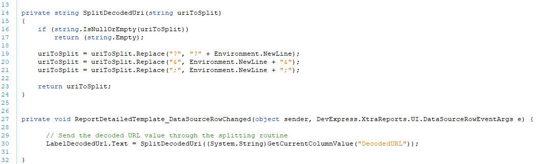 NetAnalysis Report Designer Script