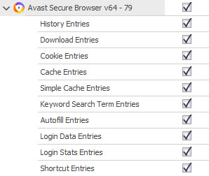 Forensic Recovery Support for Avast Secure Browser