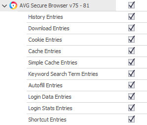 AVG Secure Browser artefacts supported in Digital Detective's HstEx®