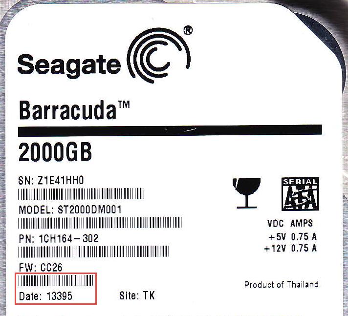 Seagate Hard Disk Label Date Code