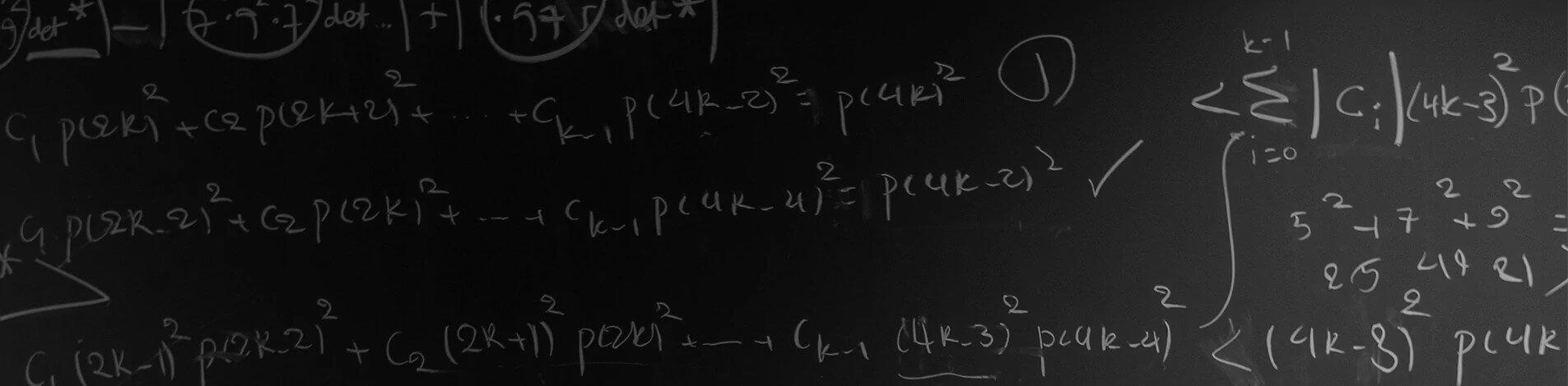 Blackboard showing formula