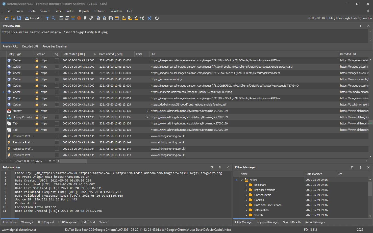 NetAnalysis Dark Theme All Panels