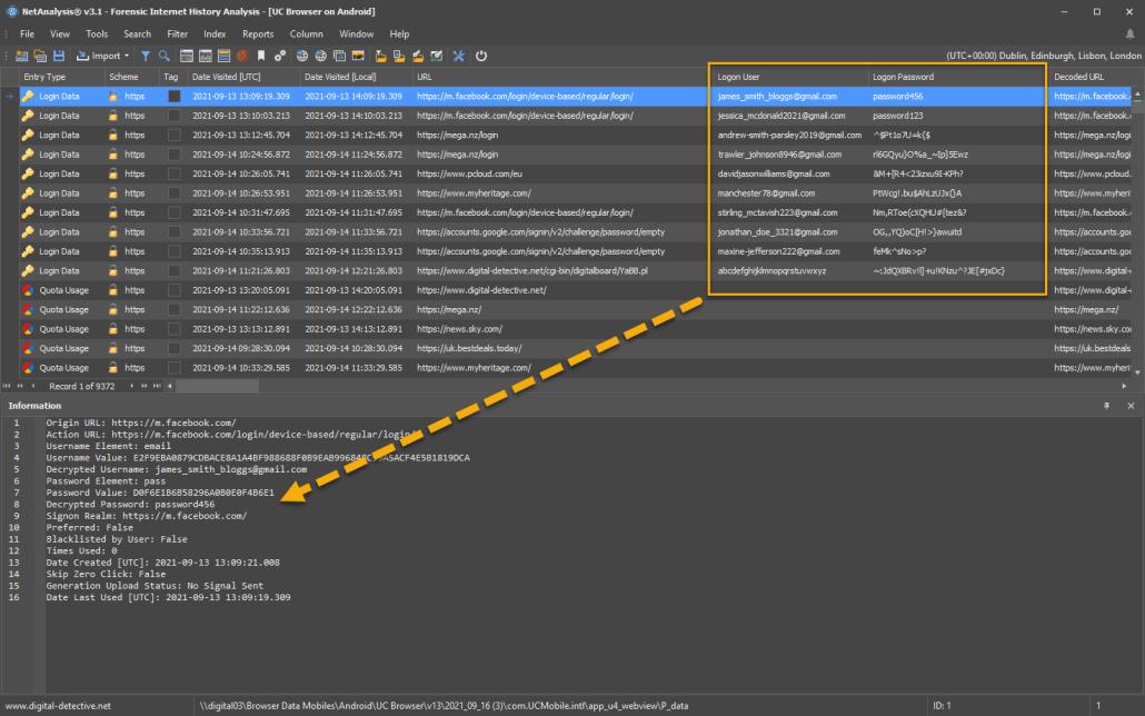 NetAnalysis Decrypting UC Browser on Android Logins
